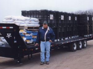 2007 - Rick with Trailer | Roed Seed Sales