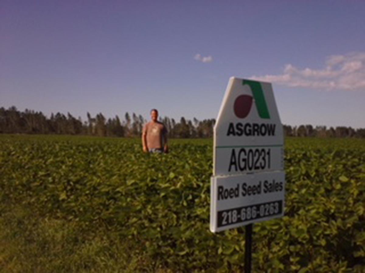 Man walking in Roed Seed Sales field
